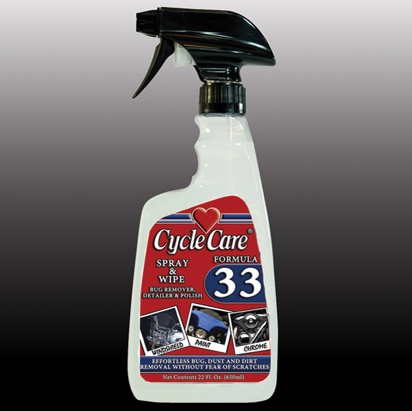 Cycle Care 22oz Formula 33 Spray and Wipe Polish and Cleaner