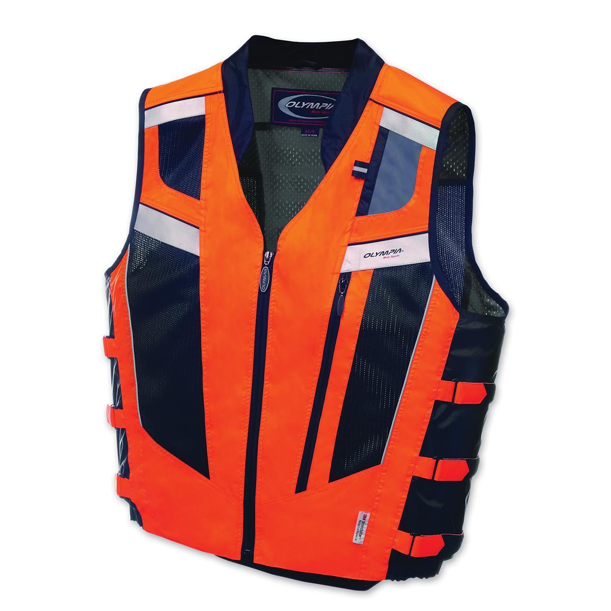 Olympia Moto Sports Unisex Blaze Neon Orange/Black Vest