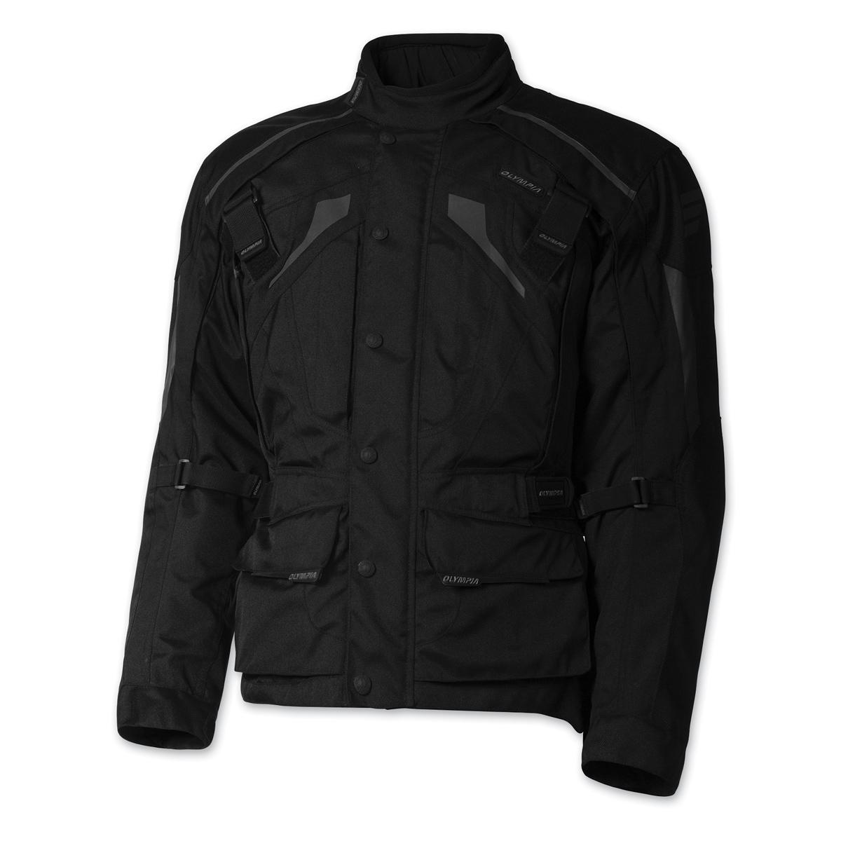 Olympia Moto Sports Men's Richmond Black Textile Jacket