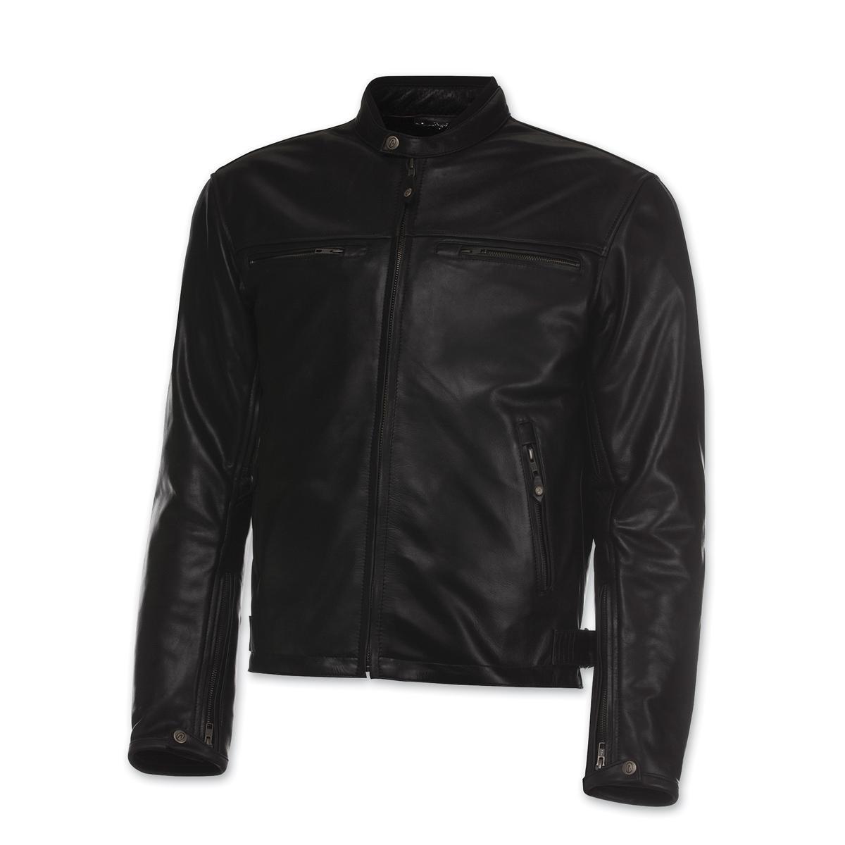 Olympia Moto Sports Men's Bishop Black Leather Jacket