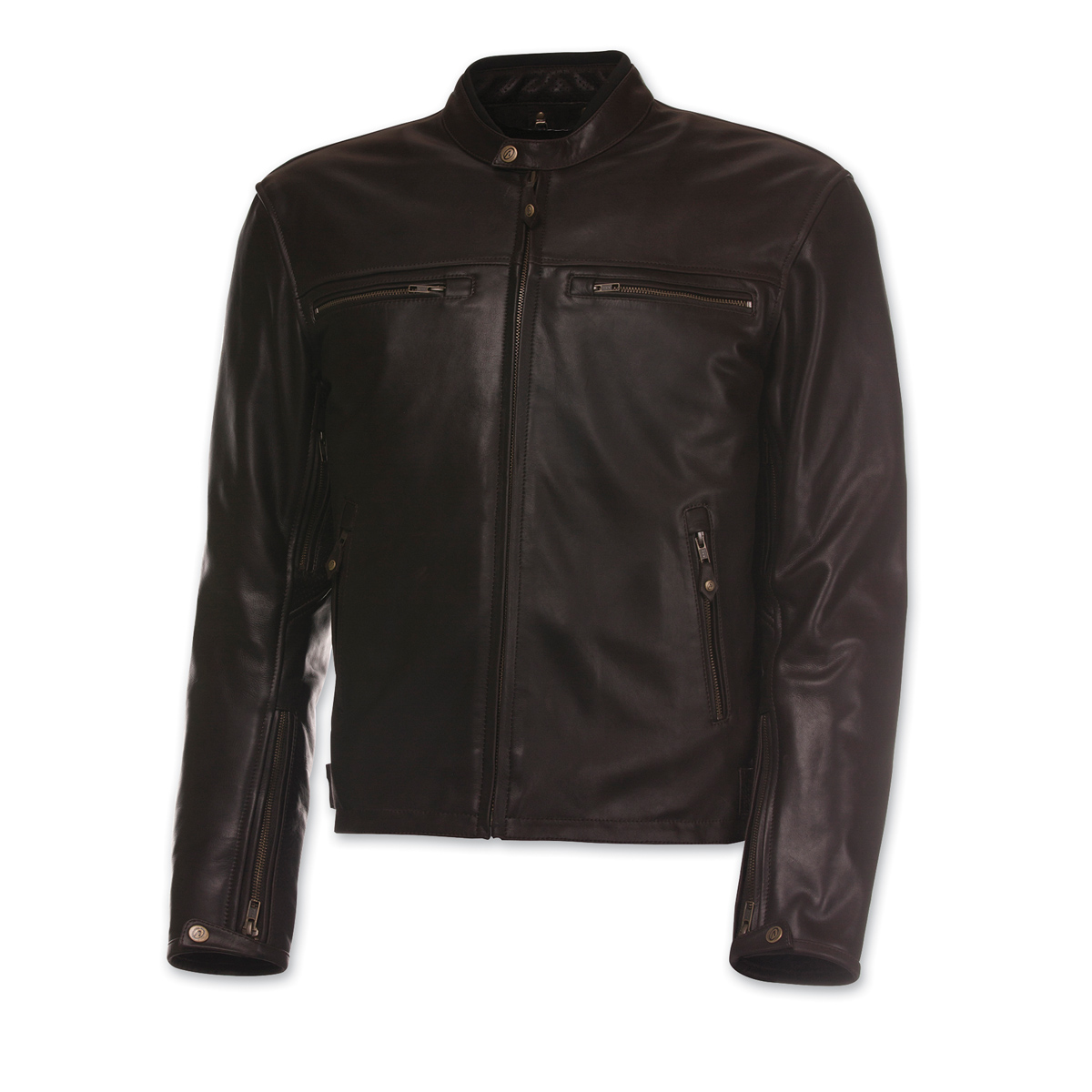 Olympia Moto Sports Men's Bishop Brown Leather Jacket