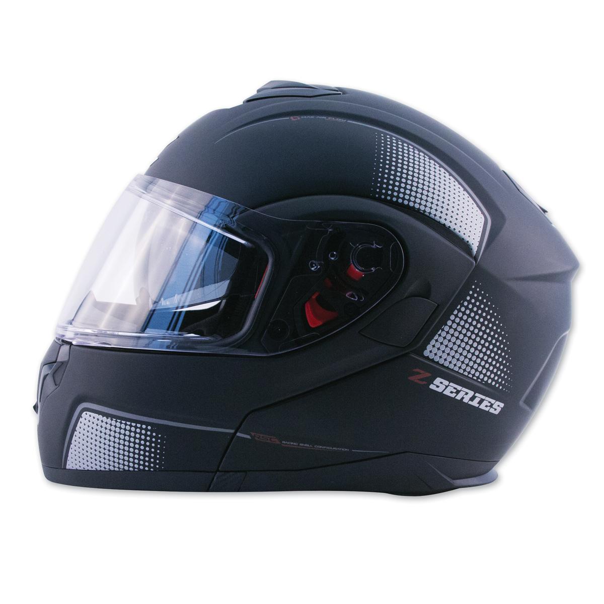 0e17c65c Zox Z-Series Z-MOD10 Atom Matte Black Modular Helmet - 88-33591 ...
