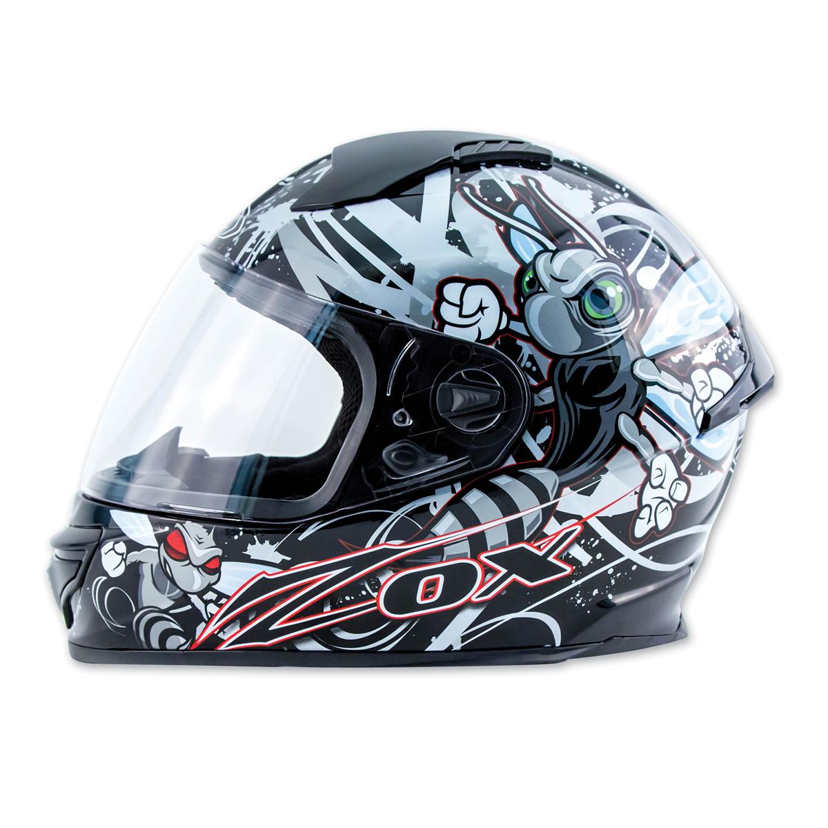 Zox Primo Junior Stinger Silver Full Face Helmet
