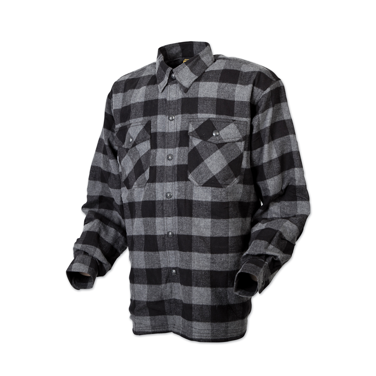 Scorpion EXO Men's Covert Black/Gray Flannel Shirt