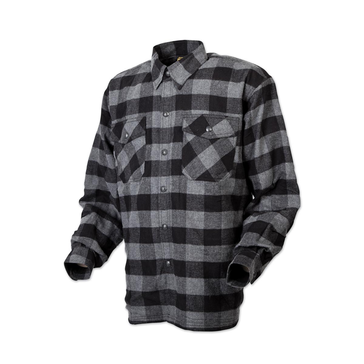 Scorpion EXO Men's Covert Black/Gray Flannel Shirt