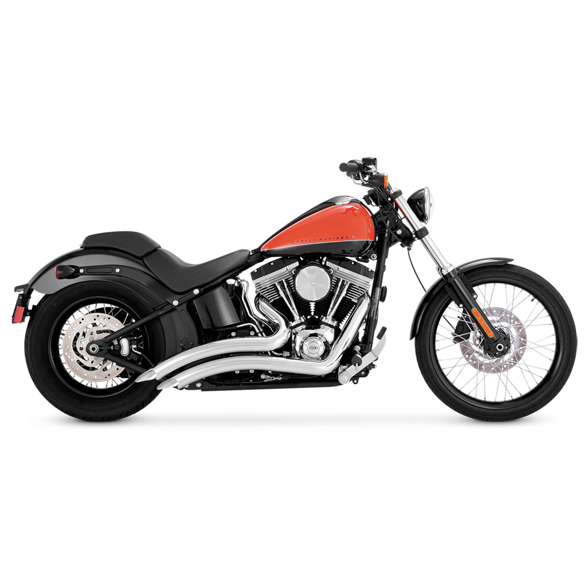 Vance & Hines Big Radius 2 into 2 Exhaust Chrome - 26069