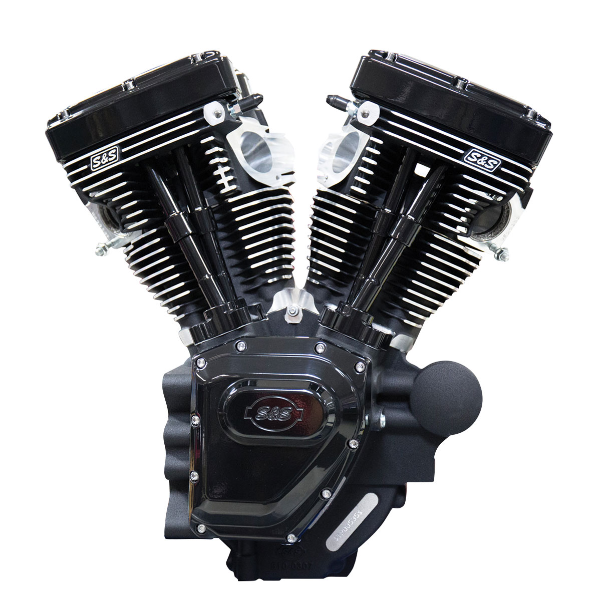 S&S Cycle T124 Long Block Black Edition Engine with 640 Camshafts