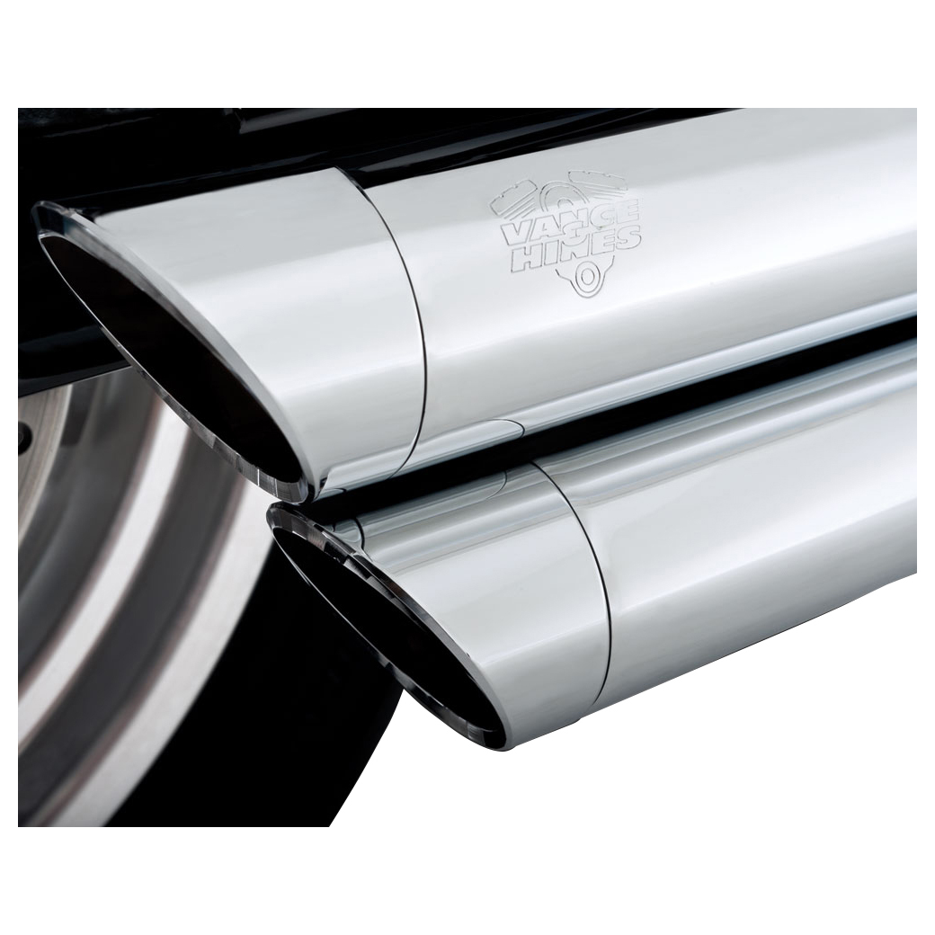Vance & Hines Big Shots Staggered Exhaust Chrome - 17938