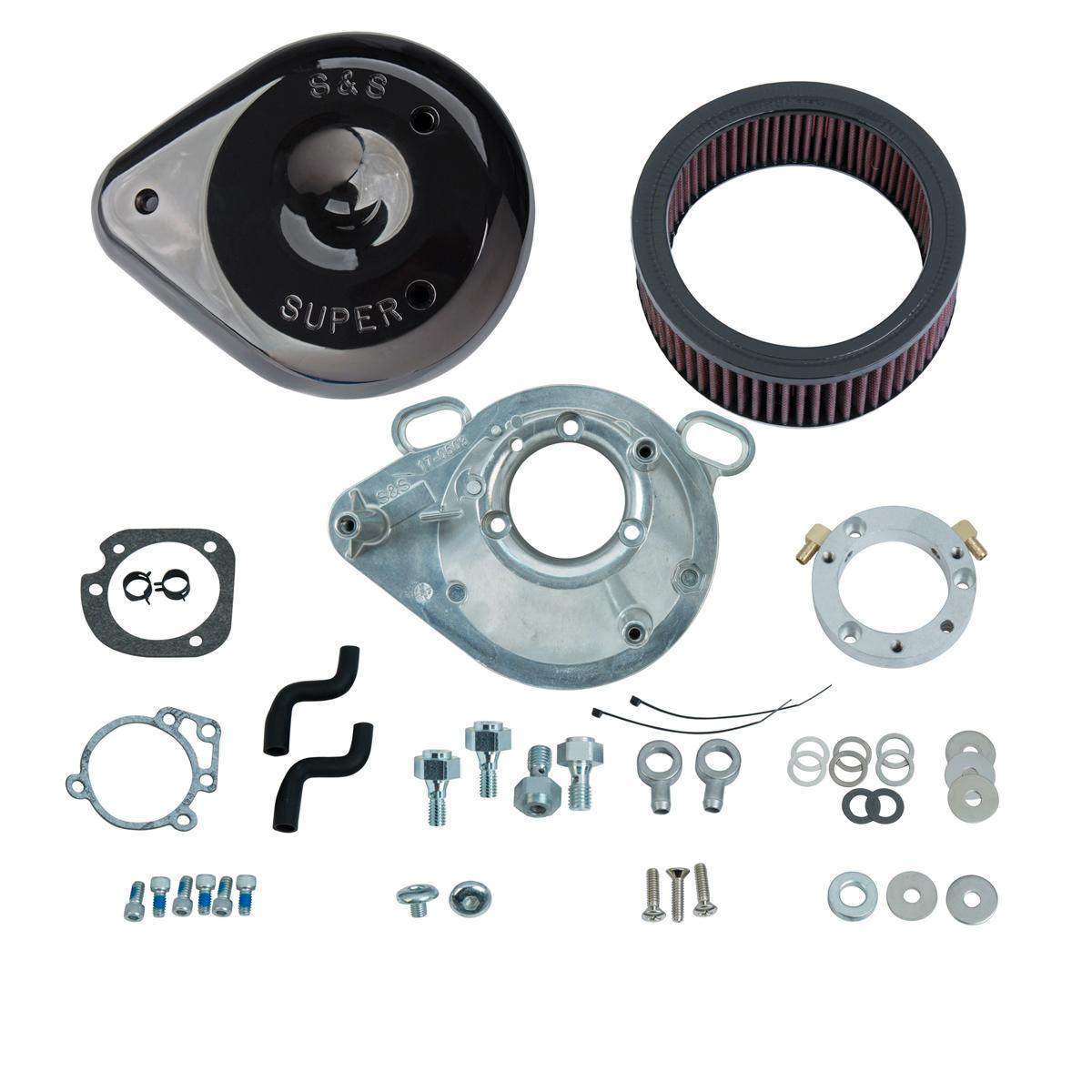 S&S CycleTeardrop Air Cleaner Kit Gloss Black
