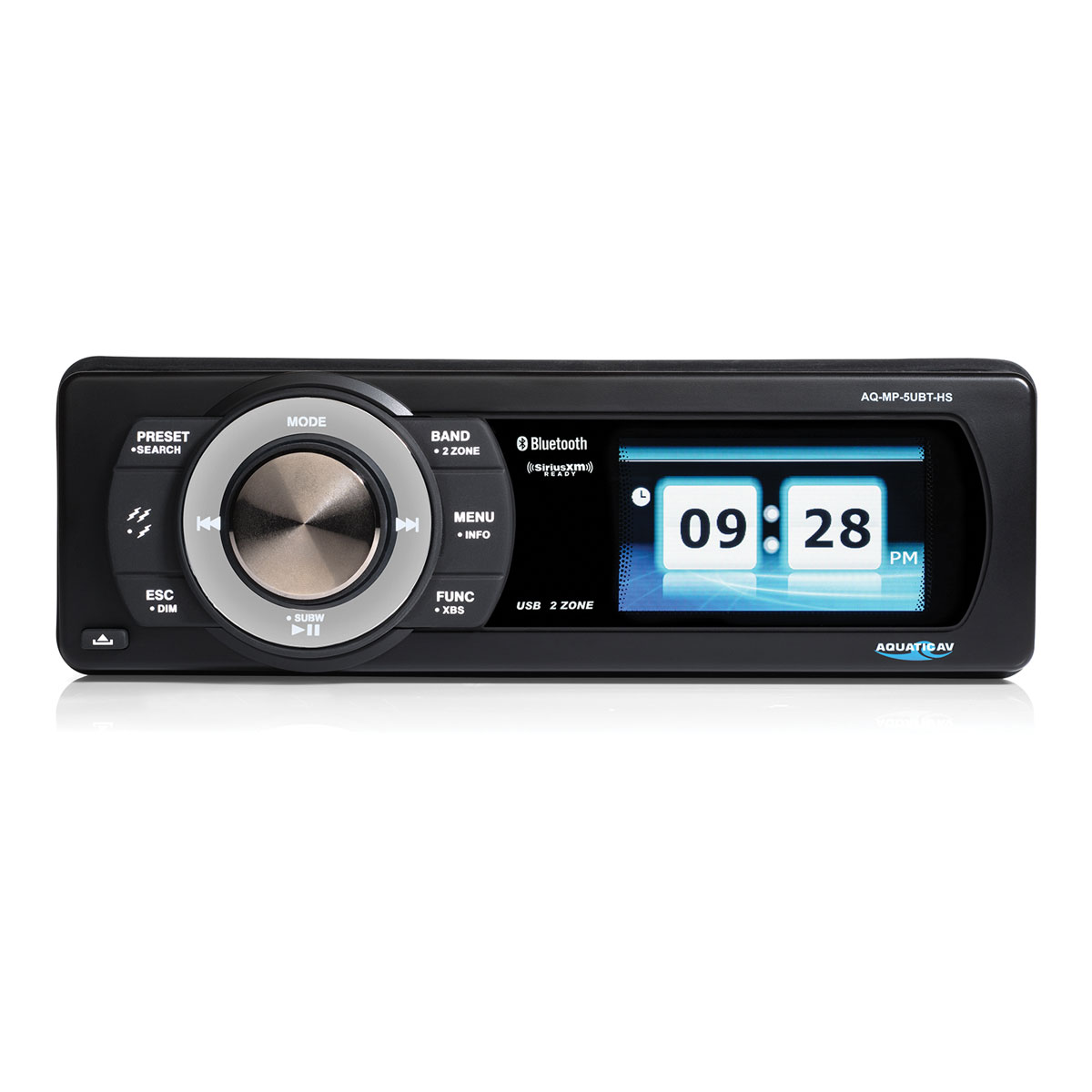 Aquatic AV SiriusXM Ready Bluetooth Stereo with 3″ Color Display
