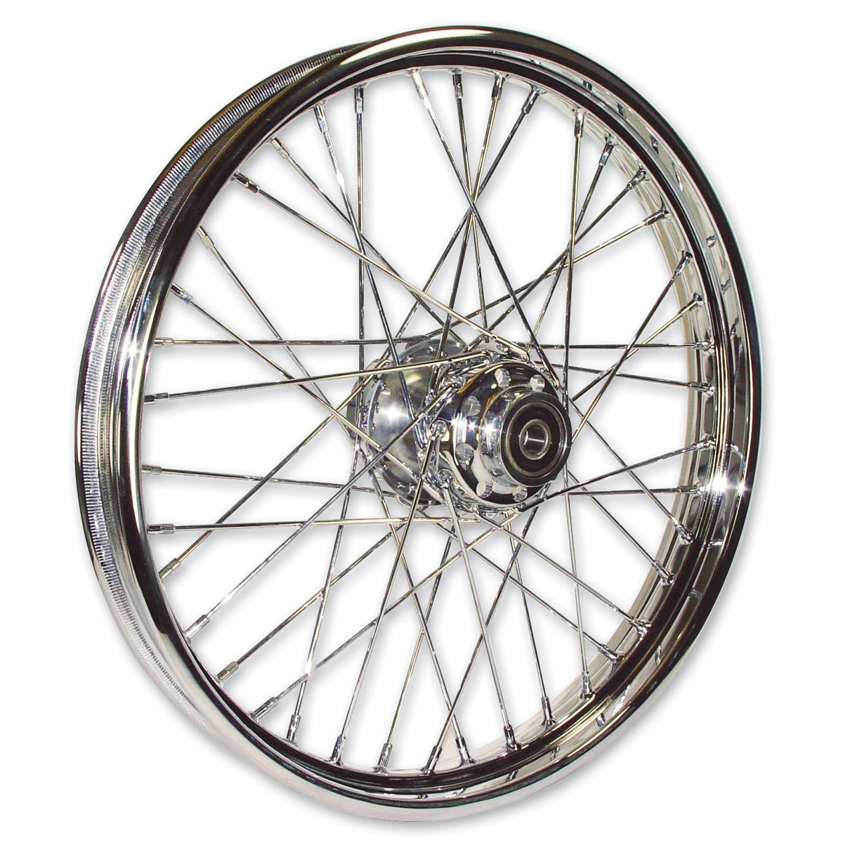 "Mid-USA Chrome Complete 40 Spoke Front Wheel 19 X 2.5"""
