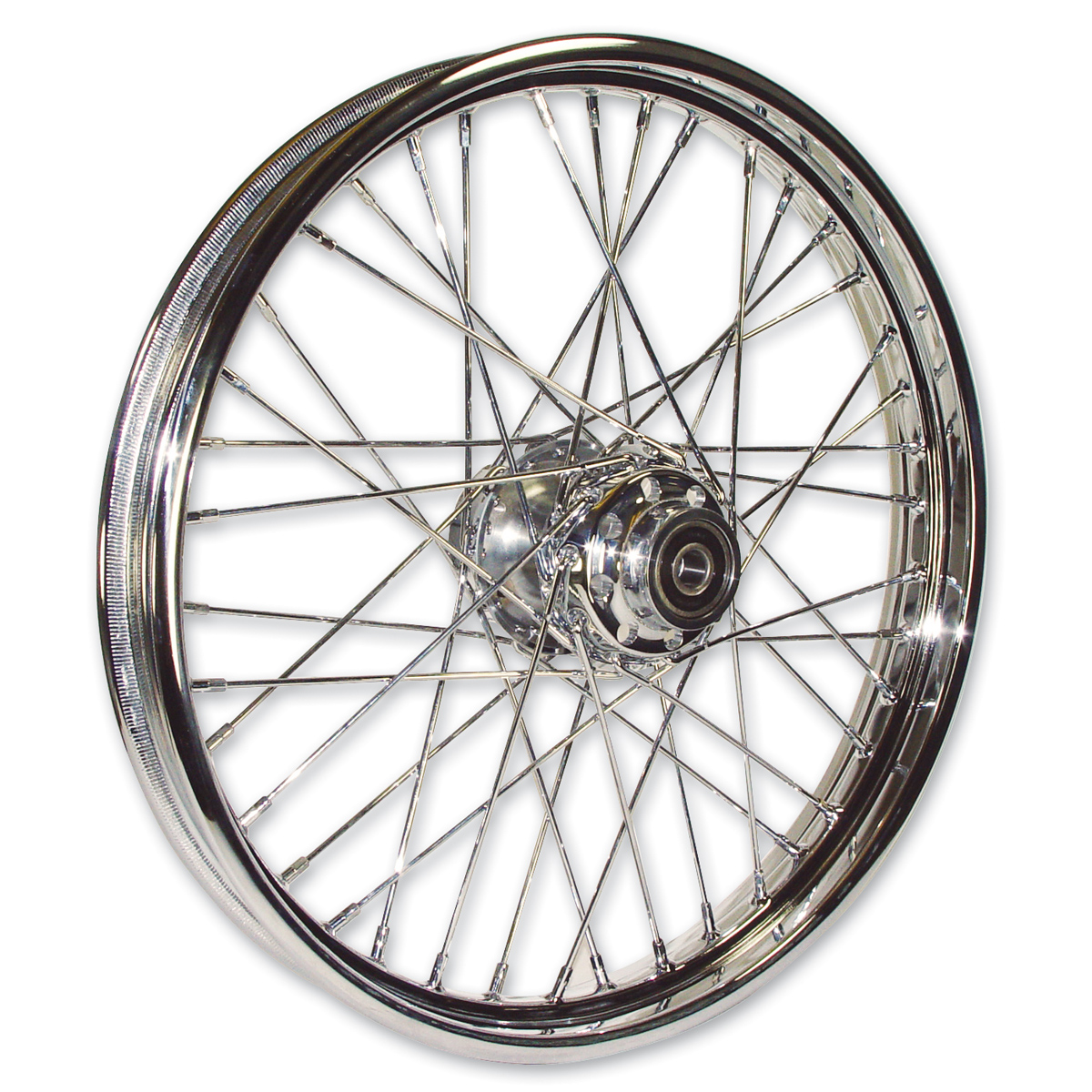 "Mid-USA Chrome Complete 40 Spoke Front Wheel 21 X 2.15"""