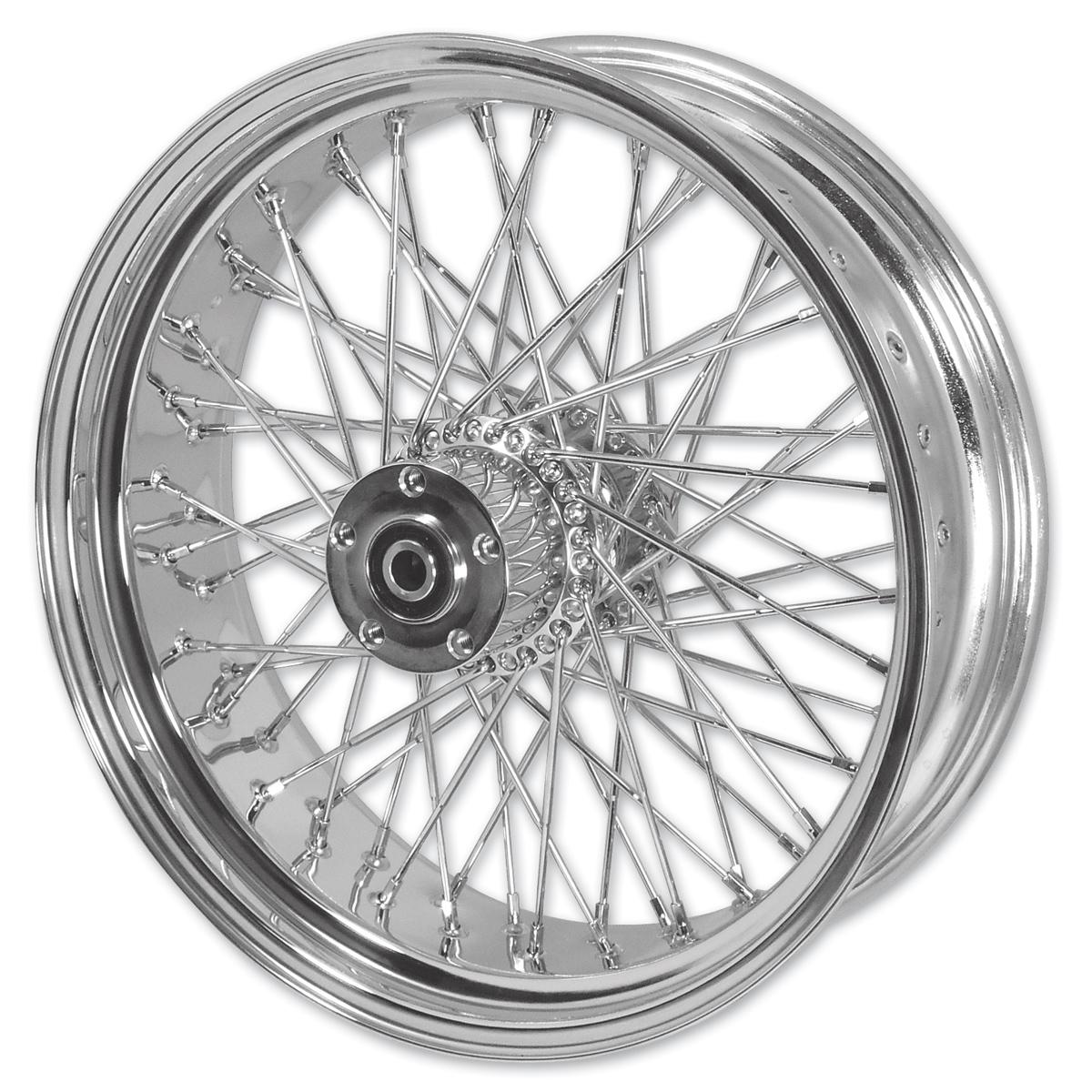 "Mid-USA Chrome Complete 40 Spoke Rear Wheel 16 X 3"""