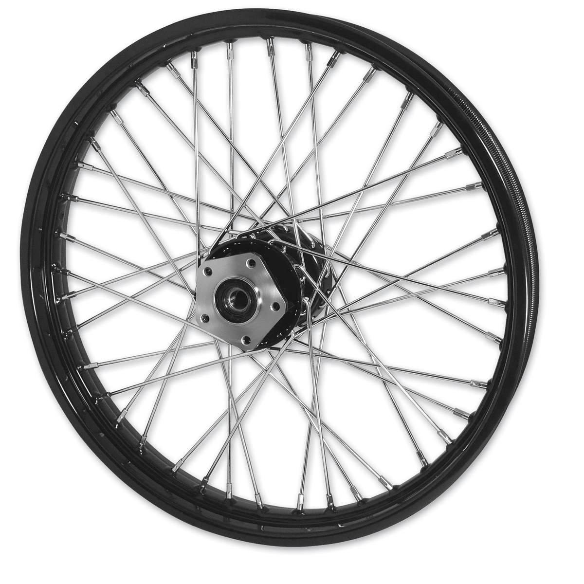 "Mid-USA Black 40 Spoke Front Wheel 21 X 2.15"""