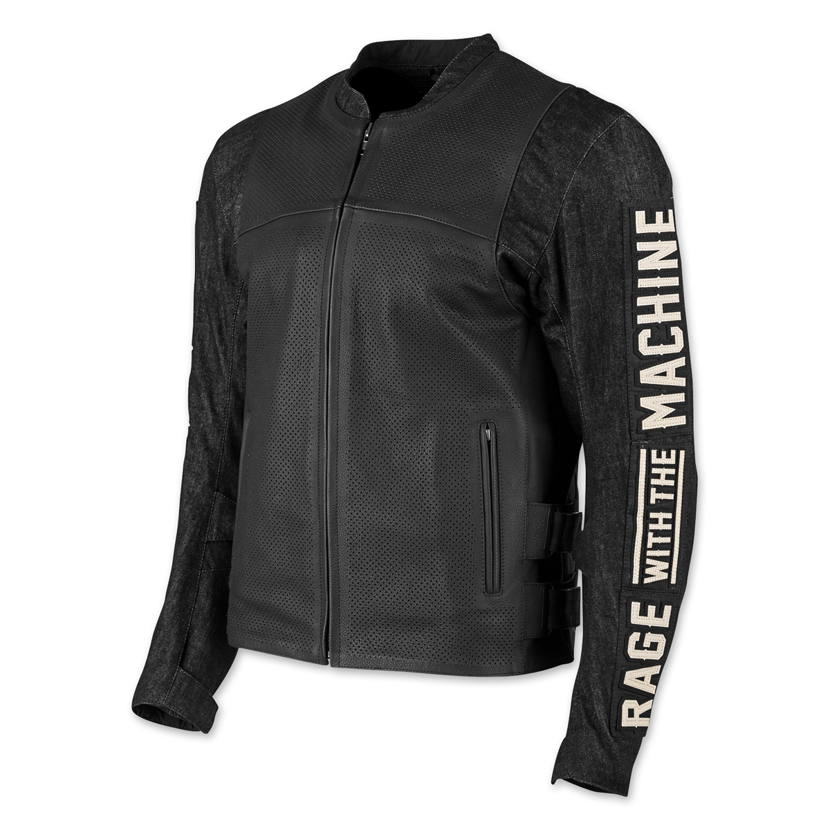 Speed and Strength Men's Rage with the Machine Black Leather/Denim Jacket