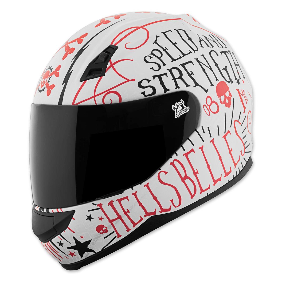Speed and Strength SS700 Hells Belles White/Red Full Face Helmet