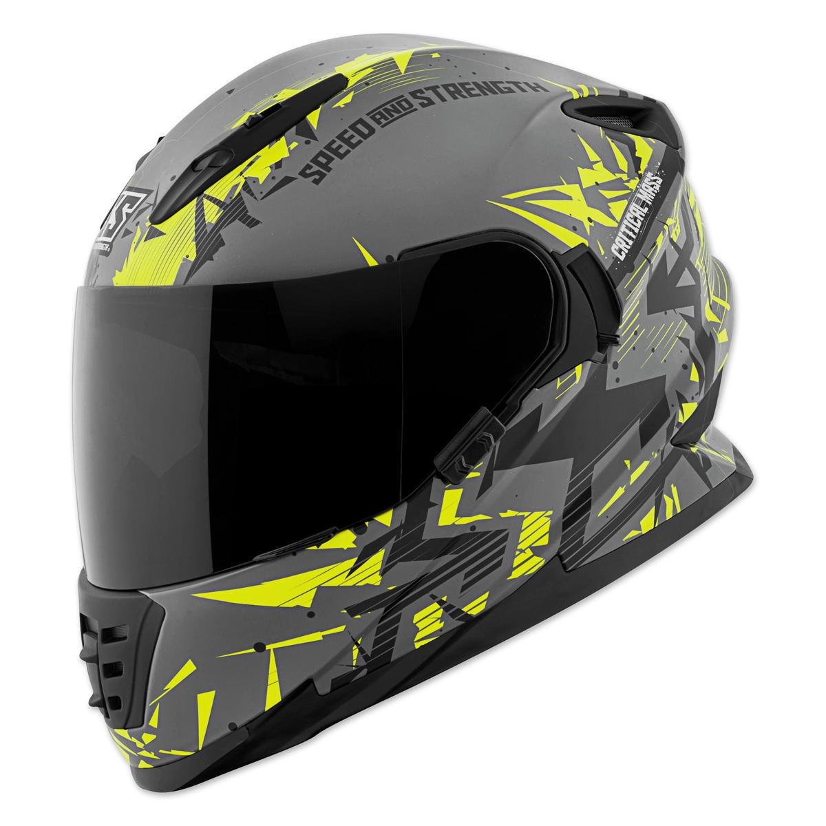 Speed and Strength SS1600 Critical Mass Gray/Hi-Viz/Black Full Face Helmet