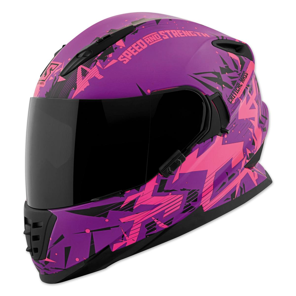 Speed and Strength Critical Mass Pink/Purple Full Face Helmet
