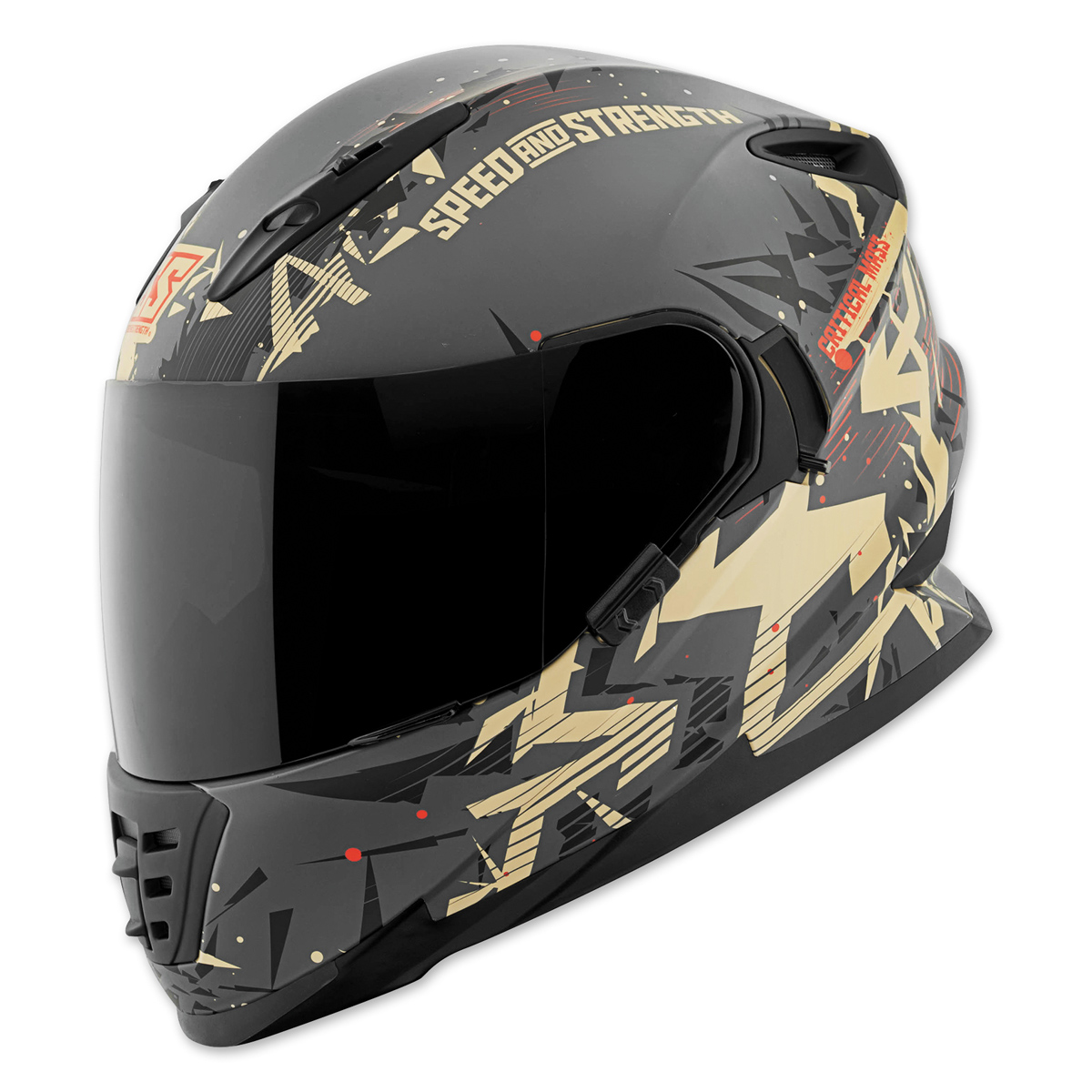 Speed and Strength SS1600 Critical Mass Sand/Charcoal Full Face Helmet