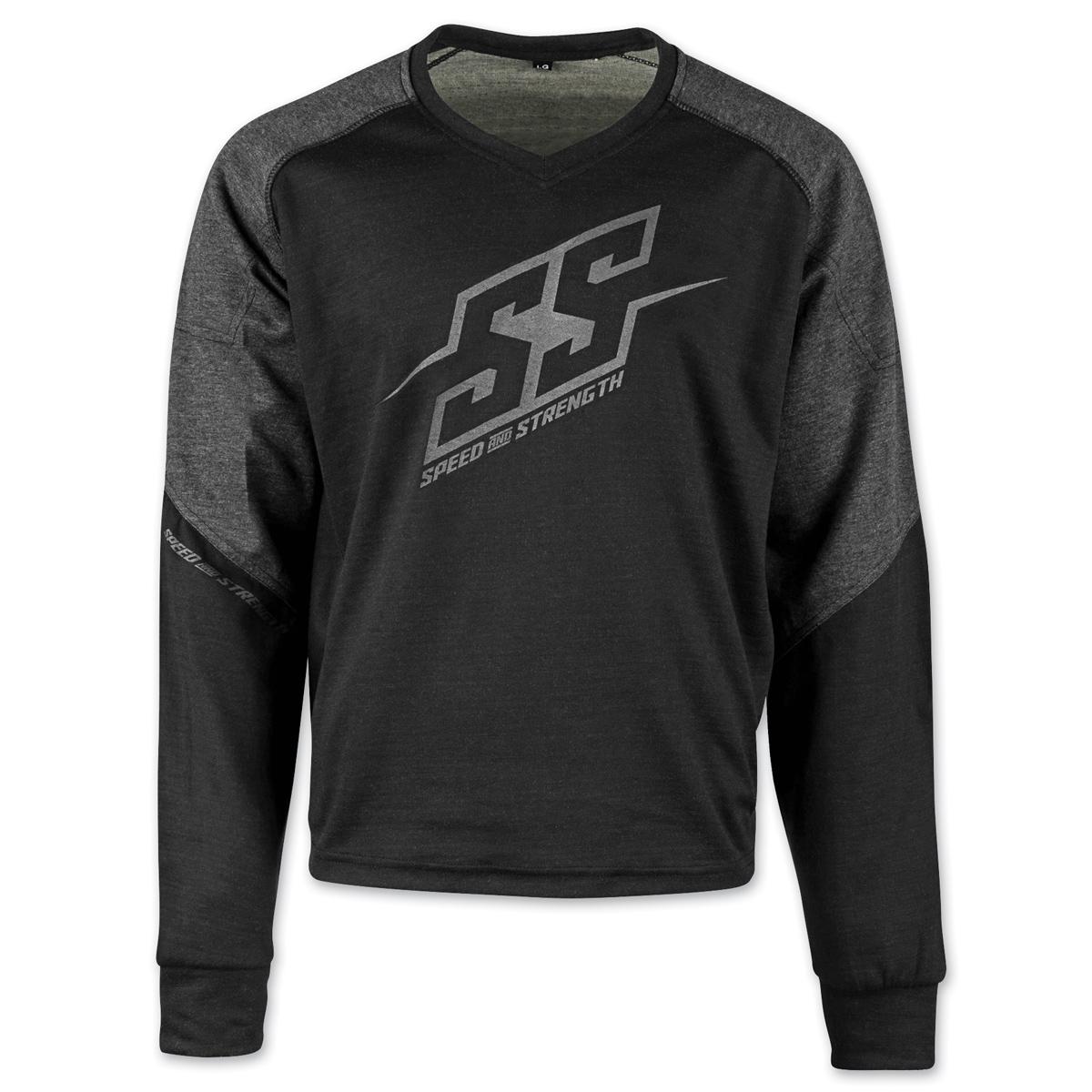 Speed and Strength Men's Critical Mass Gray/Black Moto Shirt