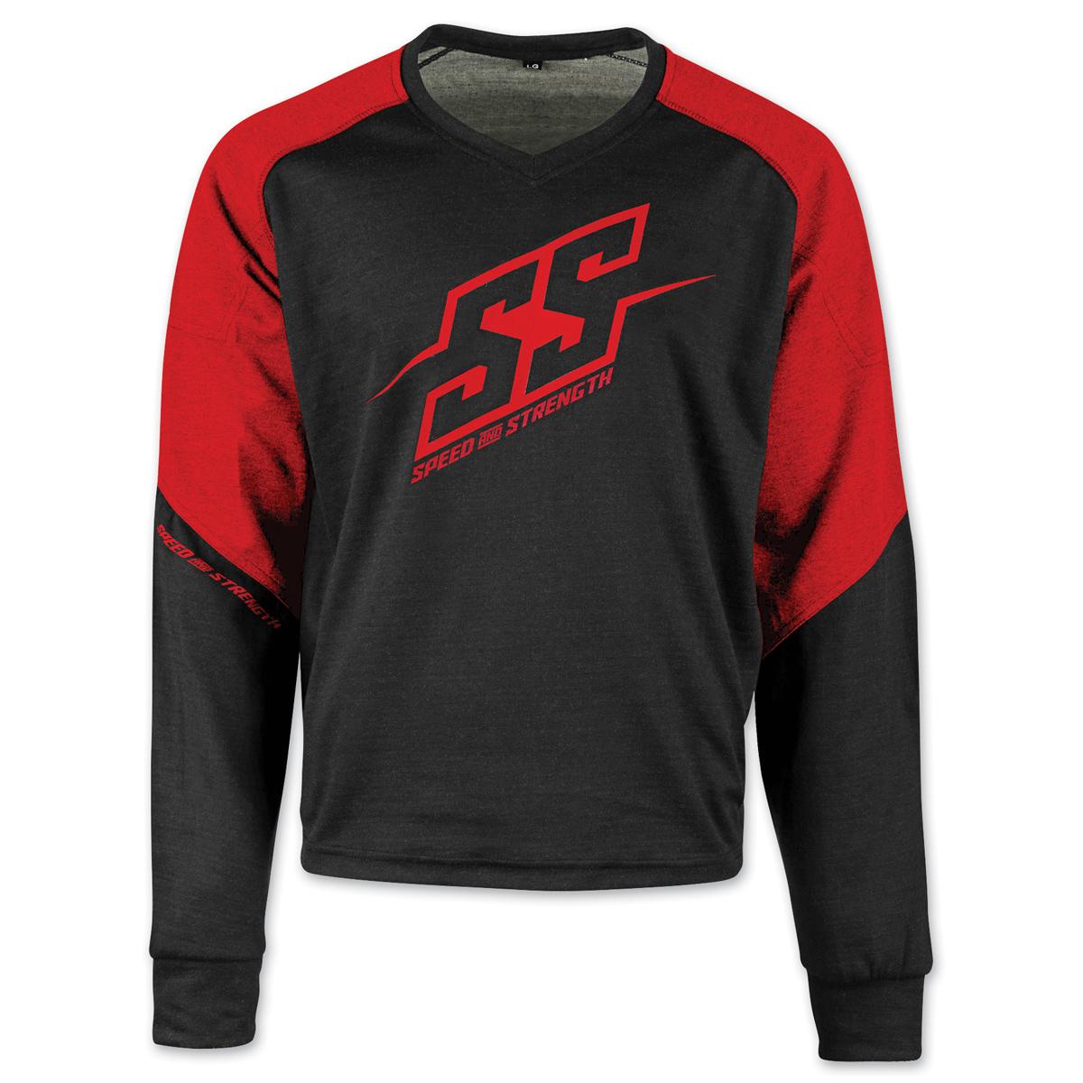 Speed and Strength Men's Critical Mass Red/Black Moto Shirt