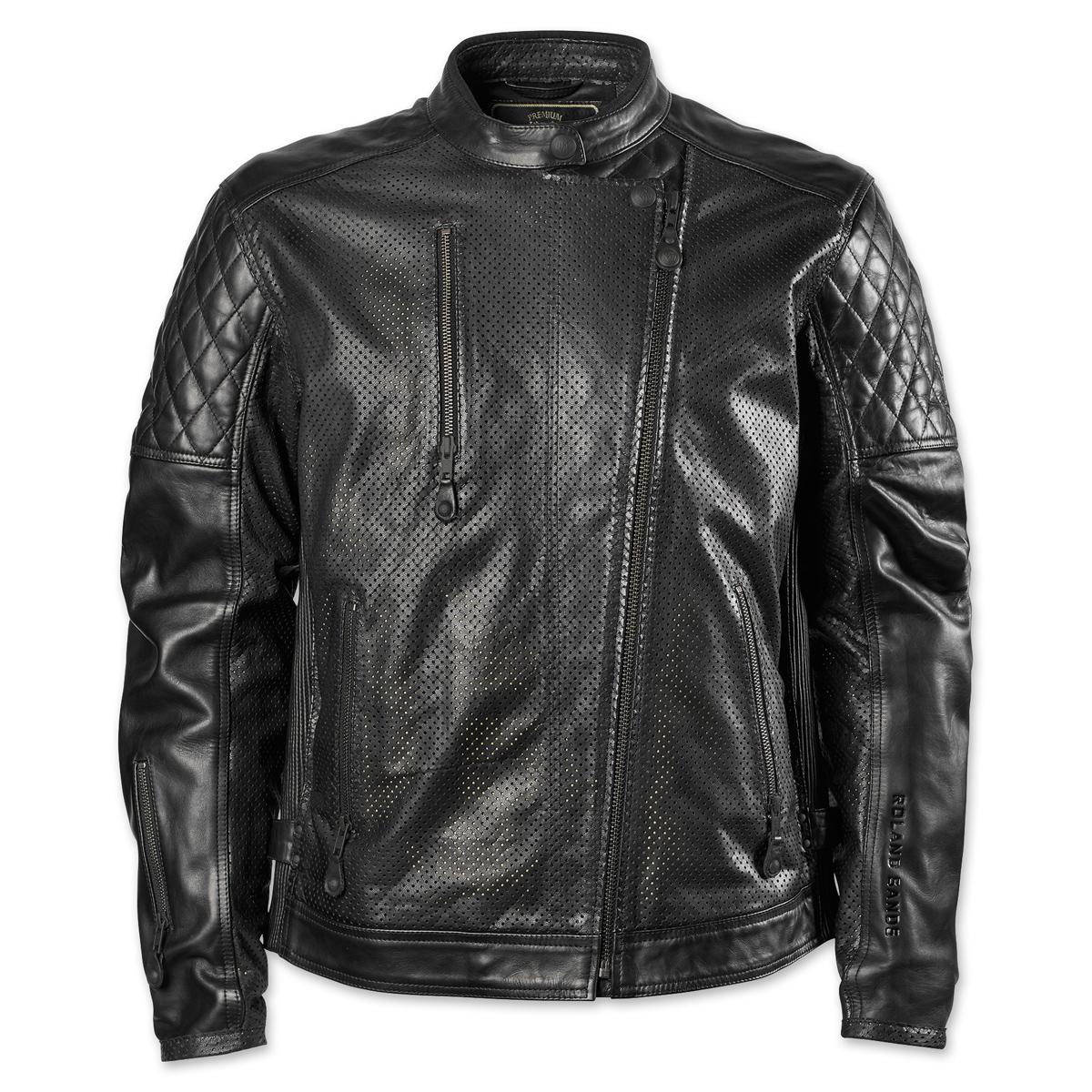 Roland Sands Design Men's Clash Black Perforated Leather Jacket