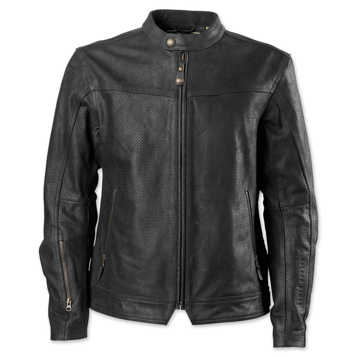 RSD Apparel Men's Walker Black Perforated Leather Jacket