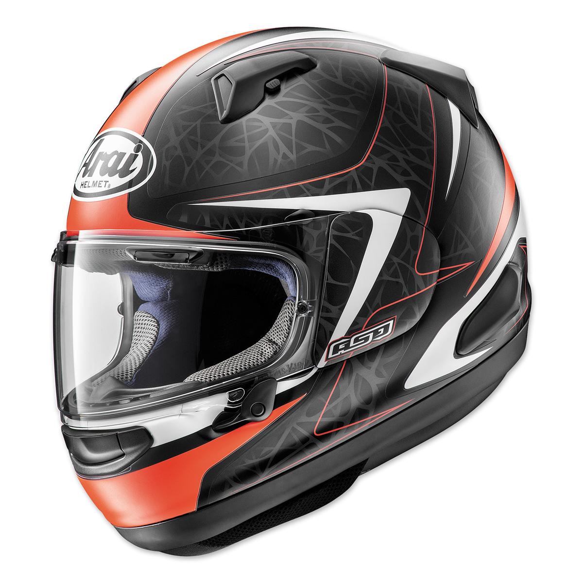 Arai Quantum-X Sting Frost Red Full Face Helmet