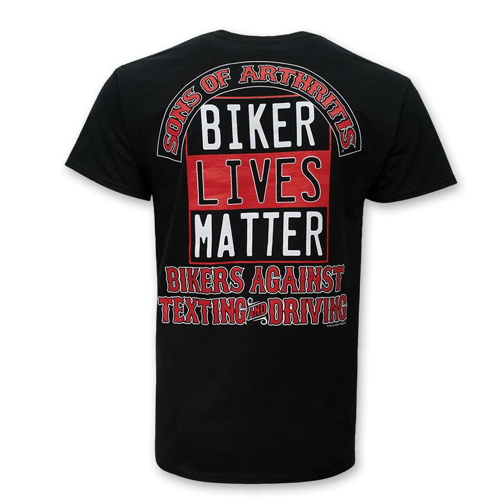 Sons of Arthritis Men's Biker Lives Matter Black T-Shirt