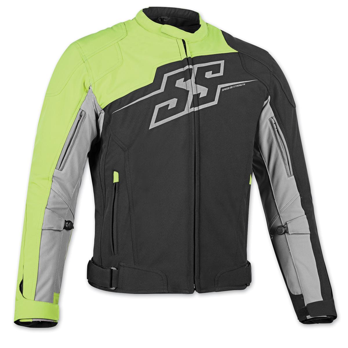Speed and Strength Men's Hammer Down Black/Hi-Viz Textile Jacket