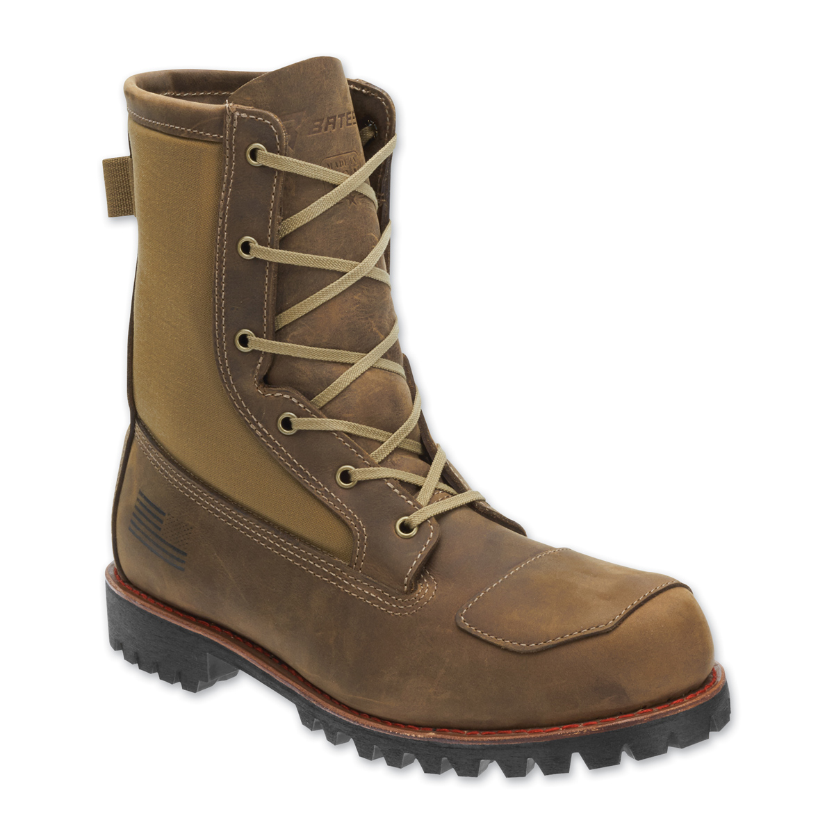 Bates Men's Bomber Brown Leather Boots