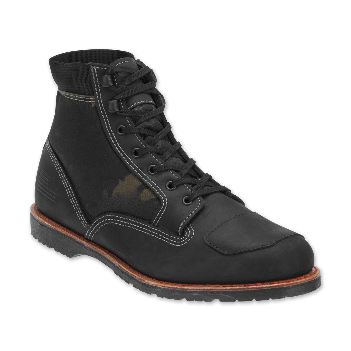 Bates Men's Freedom Black/Camo Leather Boots