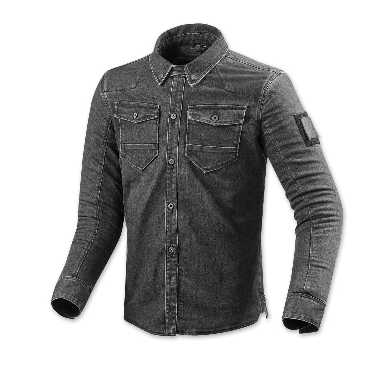 REV′IT! Men's Hudson Distressed Dark Gray Overshirt