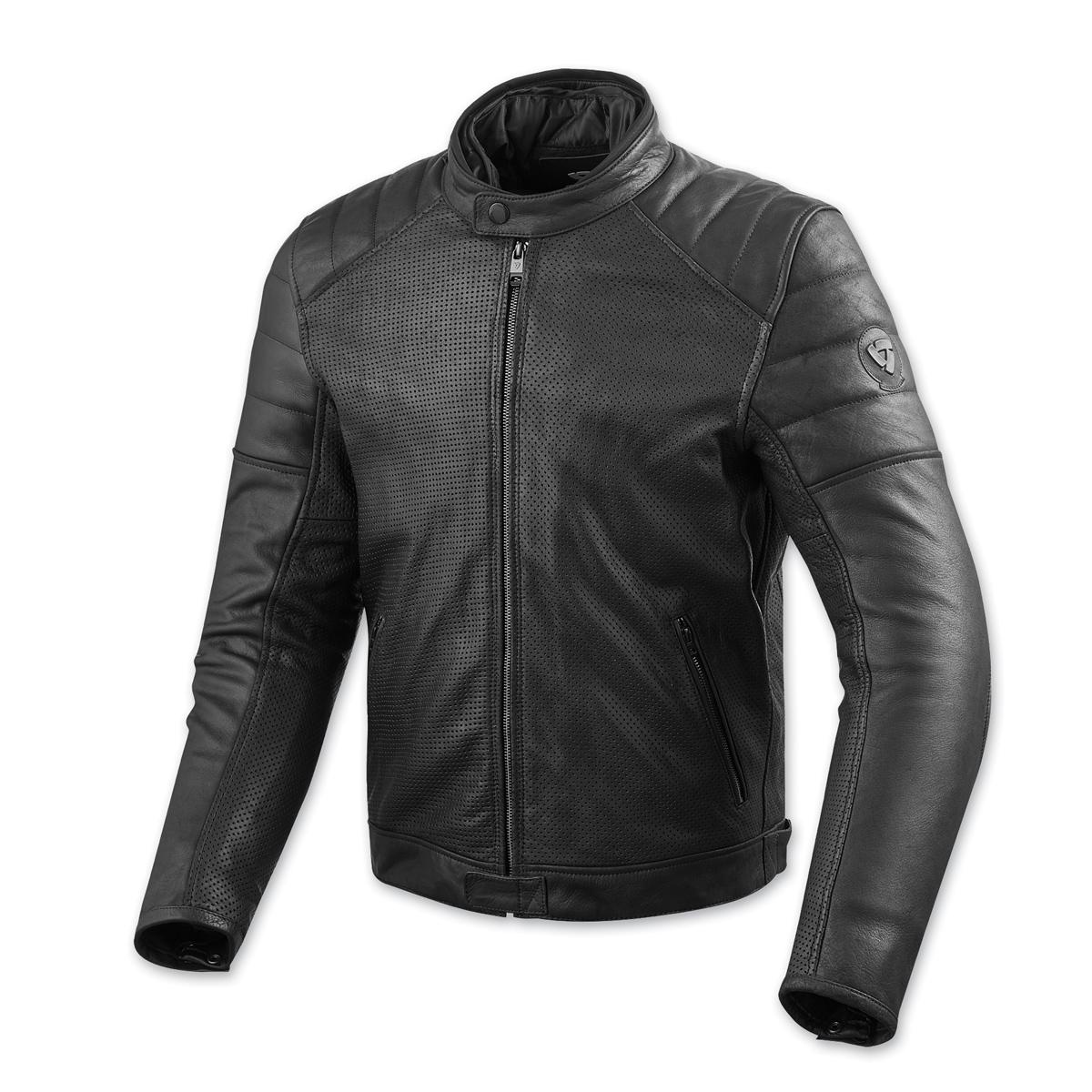 REV′IT! Men's Stewart Air Black Leather Jacket