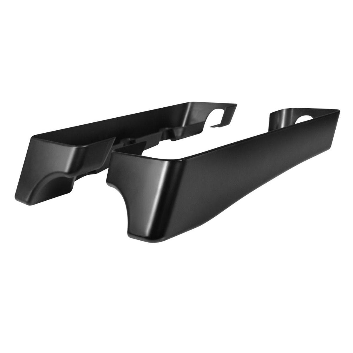 HogWorkz Denim Black 3″ Saddlebag Extensions with Dual Cut Out