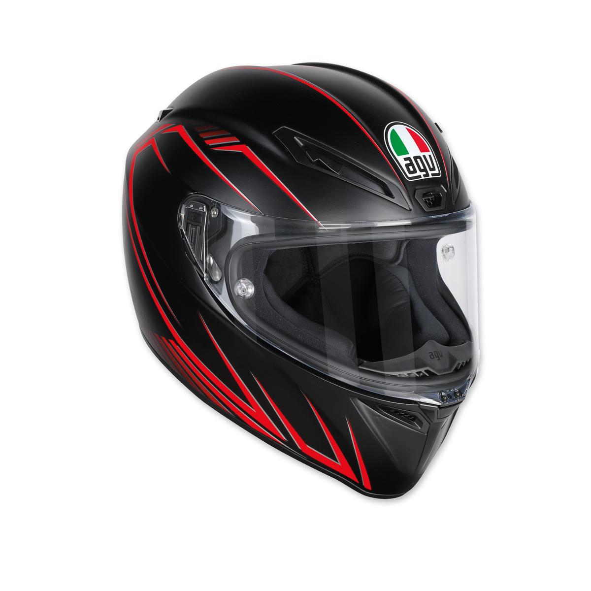 AGV Veolce S Predatore Matte Black/Red Full Face Helmet
