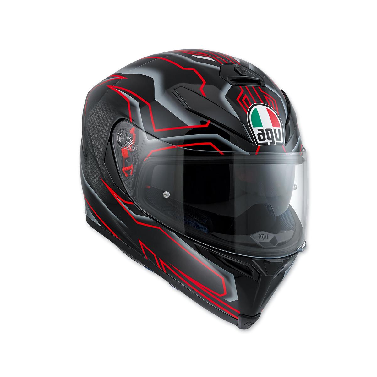 AGV K-5 S Deep Black/White/Red Full Face Helmet