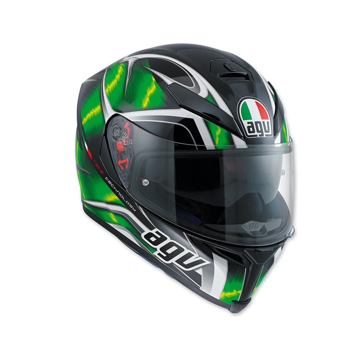 AGV K-5 S Hurricane Black/Green Full Face Helmet