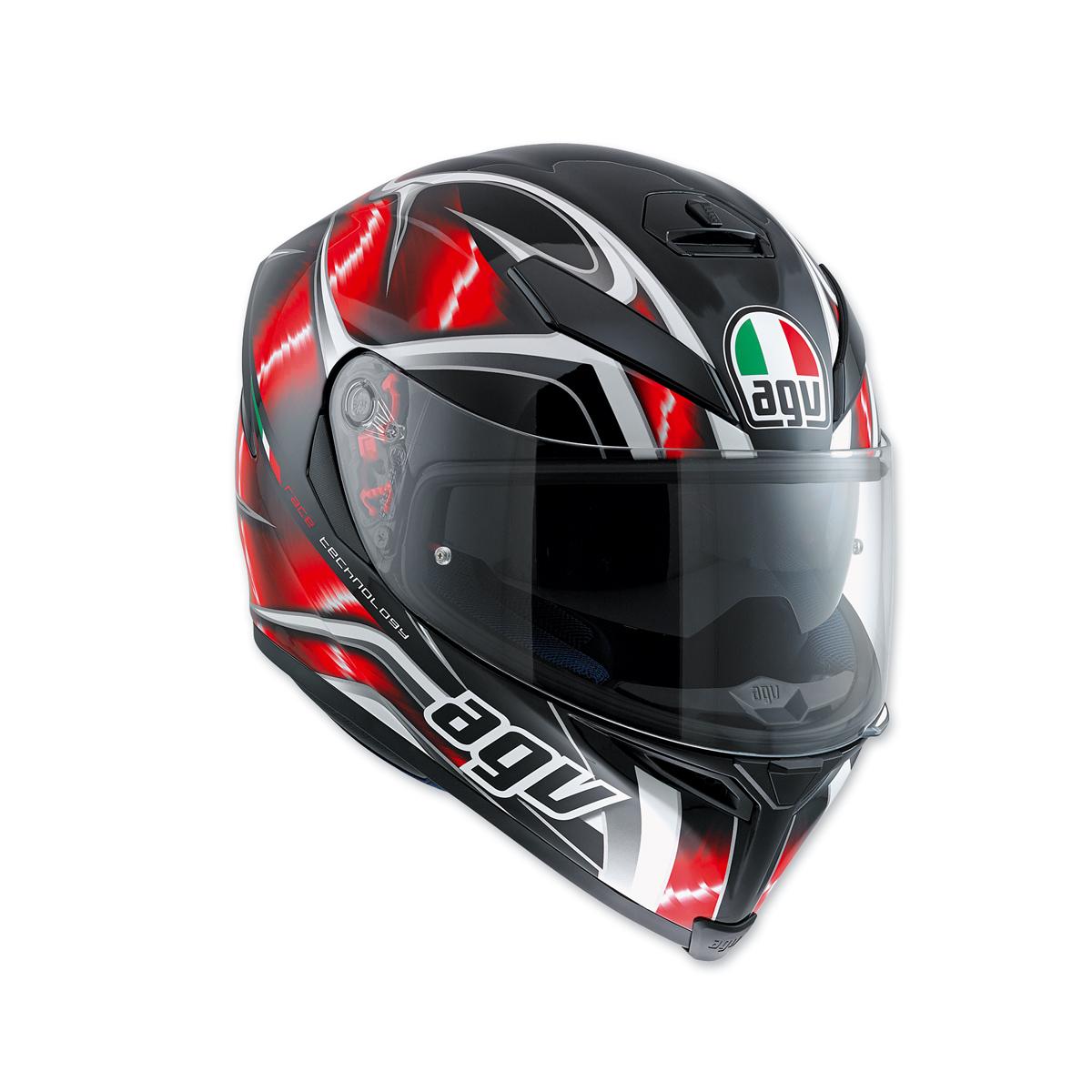 AGV K-5 S Hurricane Black/Red Full Face Helmet