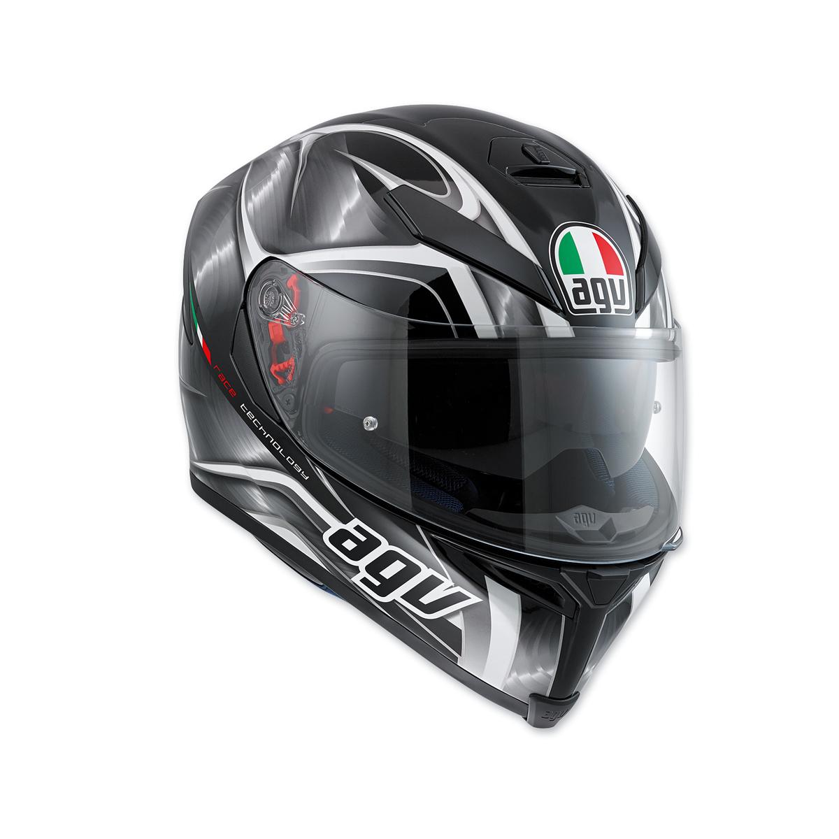 AGV K-5 S Hurricane Black/Gray Full Face Helmet
