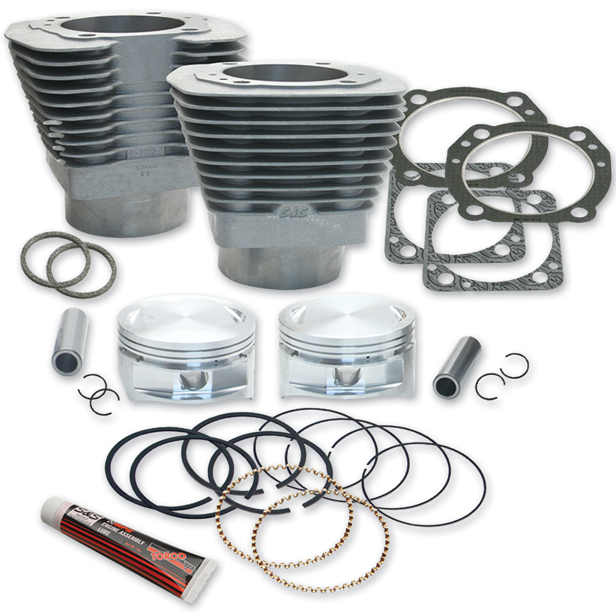 S&S Cycle 4″ Bore Cylinder and Piston Kit for 113″ Engines Natural