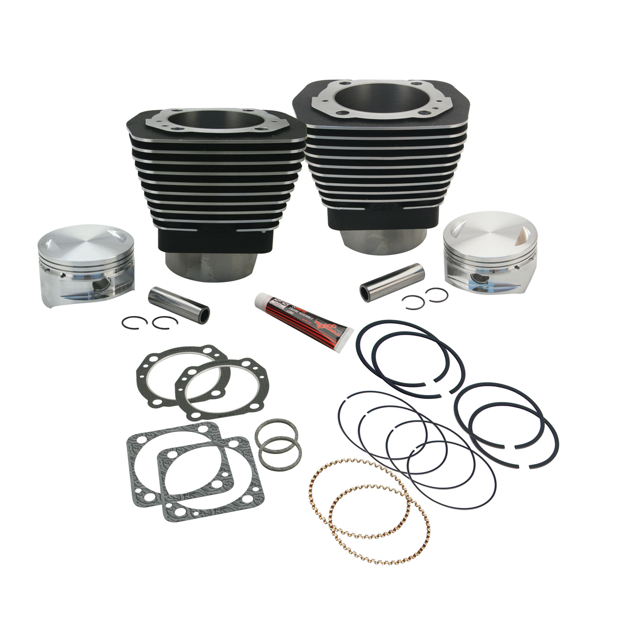 S&S Cycle 4″ Bore Cylinder and Piston Kit for 113″ Engines Black
