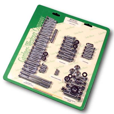 Gardner Westcott Polished Builders Fastener Kit for 4-speed Shovelhead