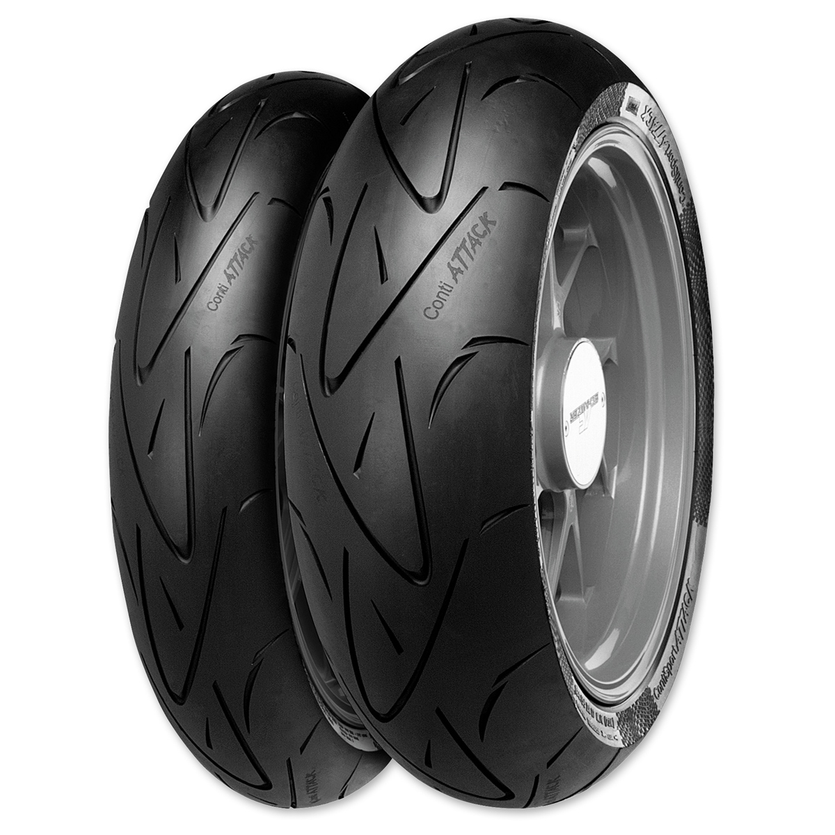 Continental Sport Attack Hypersport Radial 180/55ZR17 Rear Tire