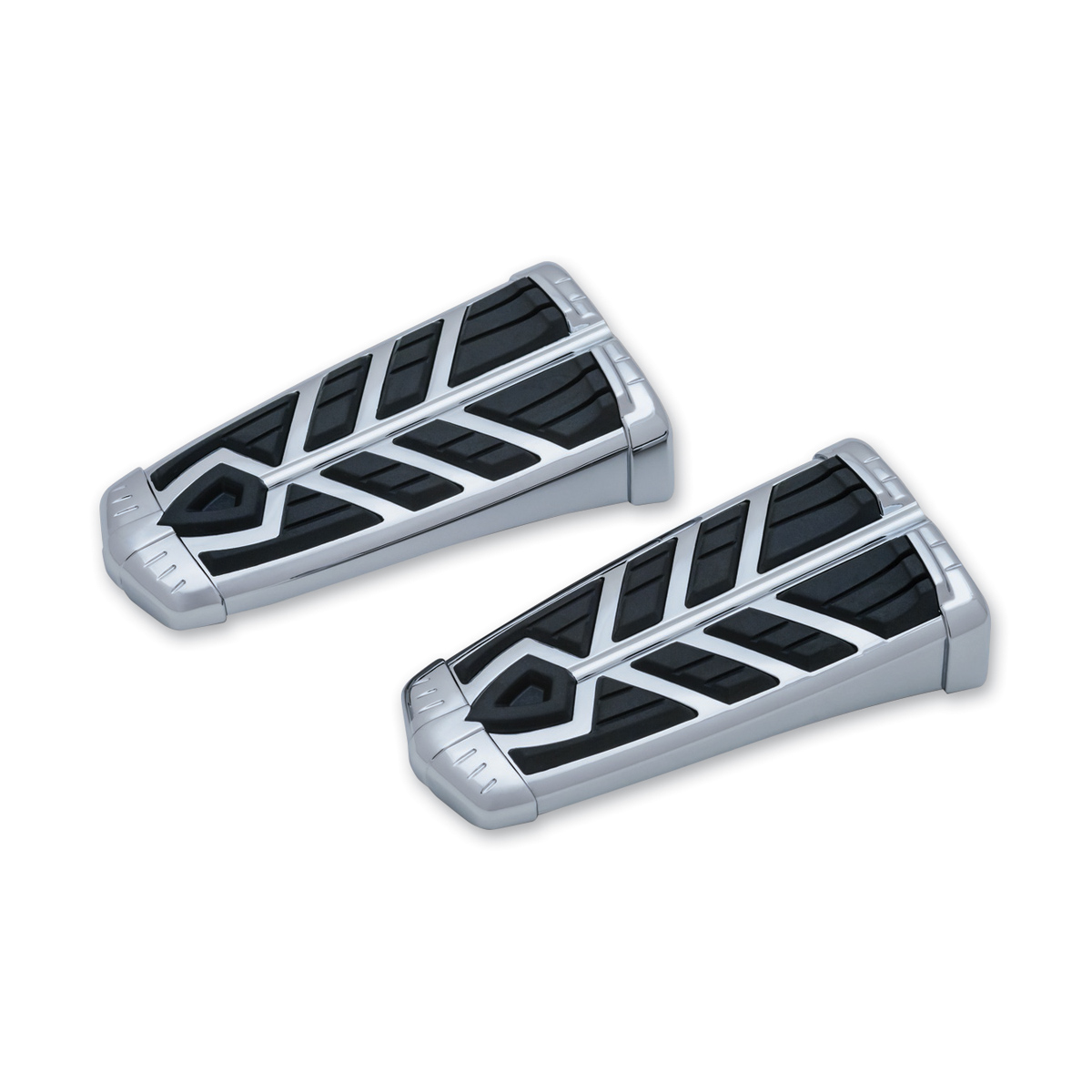 Chrome 1 Pair Spear Footpegs without Adapters Kuryakyn 5658 Motorcycle Foot Control Component