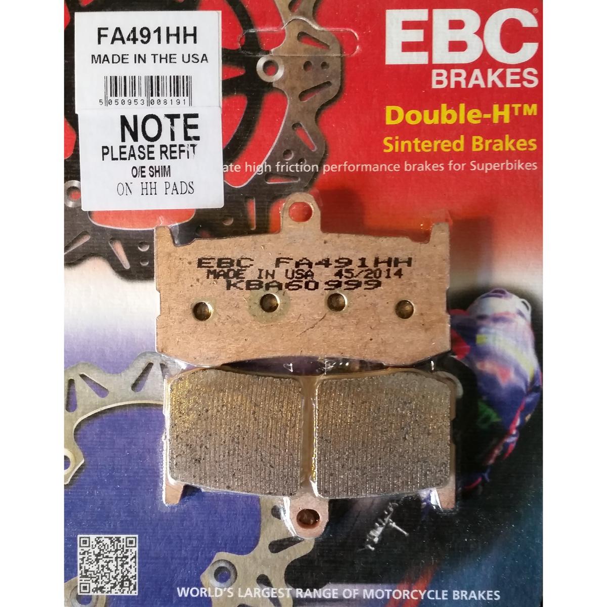 1994-1998 EBC Rear Sintered Brake Pads FA47HH DUCATI  916 BIPOSTO