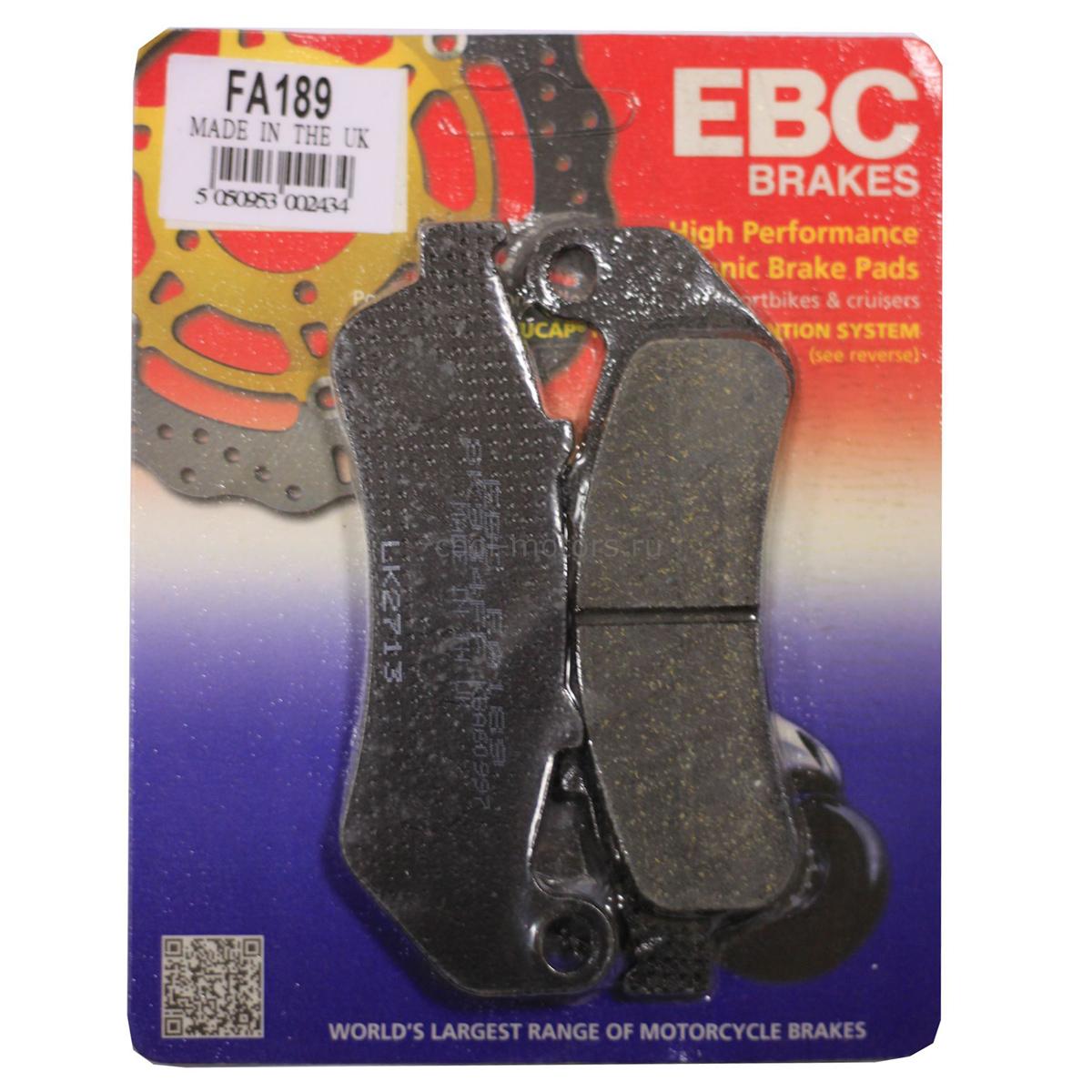 EBC Front/Rear Organic Brake Pads