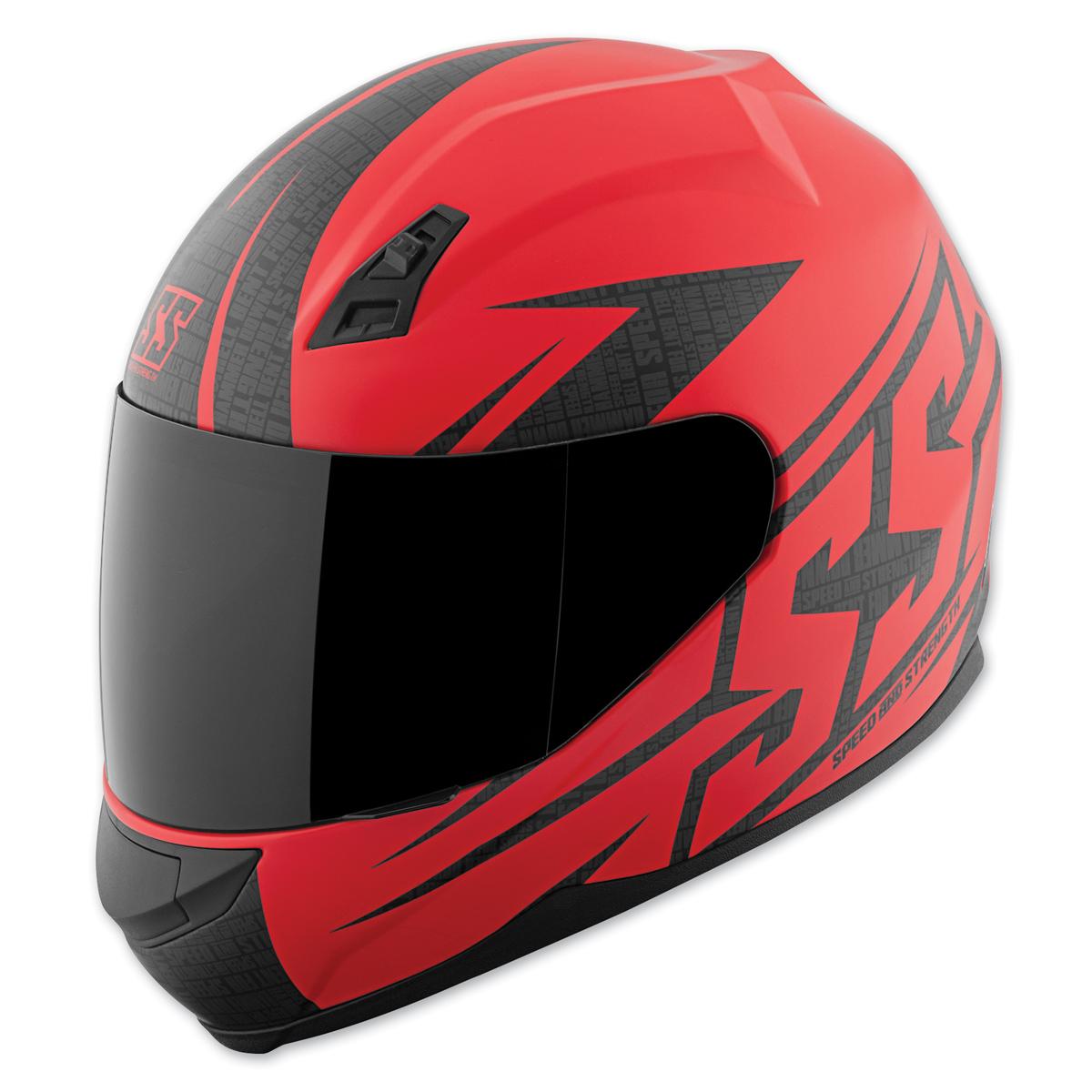 Speed and Strength SS700 Hammer Down Matte Red Full Face Helmet
