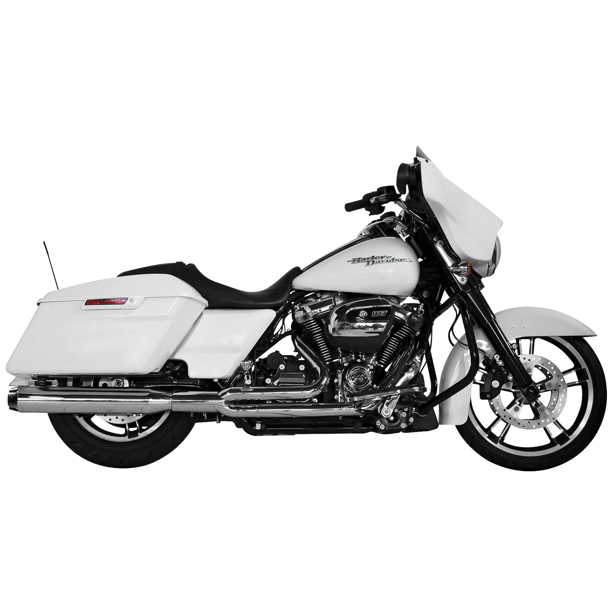 Two Brothers Racing Comp-S 2-1 Full Exhaust System Chrome with Carbon Fiber End Cap