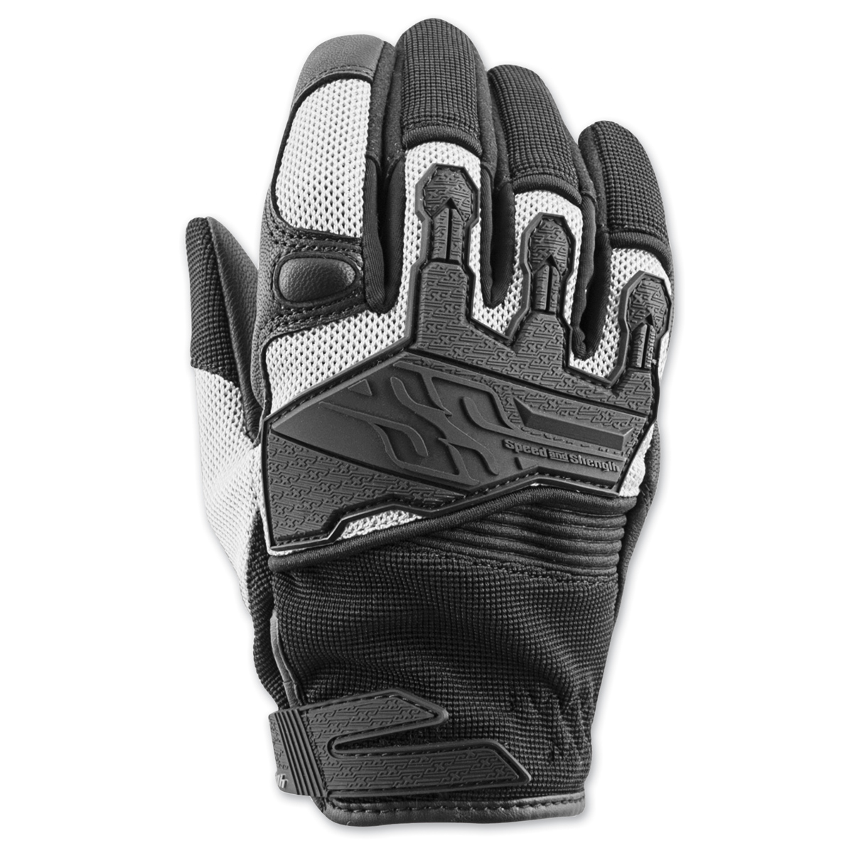 Speed and Strength Women's BackLash Black/White Gloves
